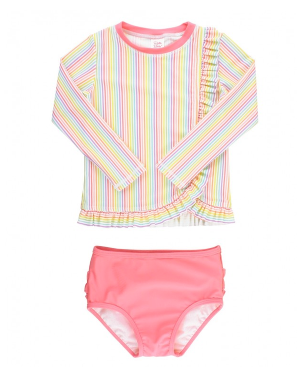 RAINBOW STRIPE RASH GUARD TANKINI
