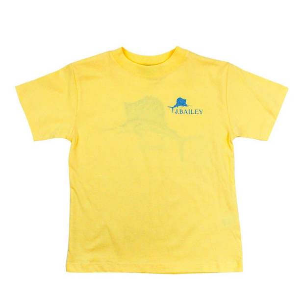 YELLOW MOSAIC FISH TEE