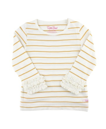 GOLD STRIPE LAYERING TEE