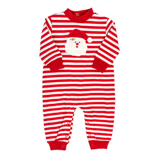 SANTA FACE KNIT ROMPER