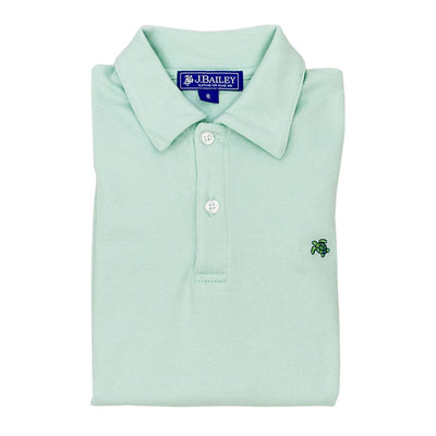 HENRY SHORT SLEEVE POLO IN SEAGLASS