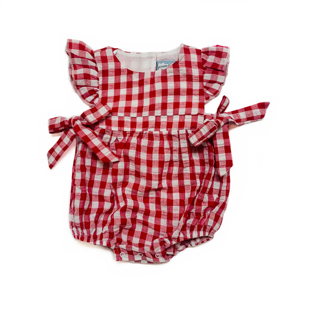 RED GINGHAM BOW BUBBLE