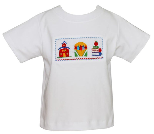 BOYS SMOCKED SCHOOL SHIRT