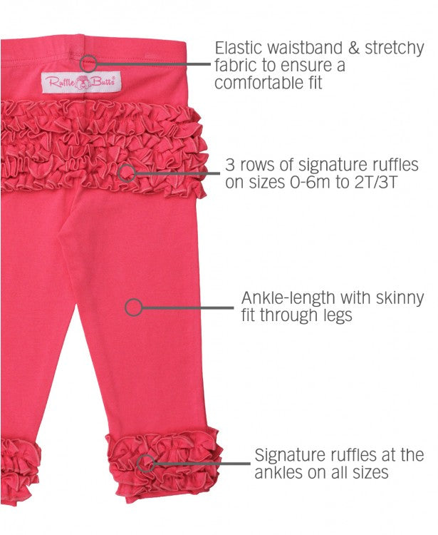 EVERYDAY RUFFLE LEGGINGS IN CANDY PINK