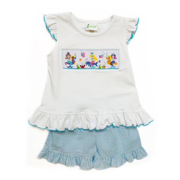 SMOCKED MERMAID TOP