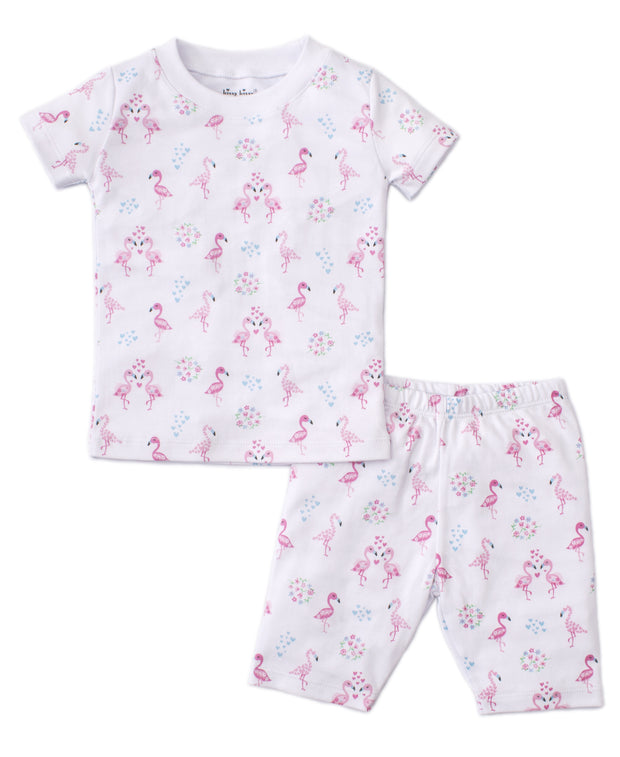 FLOWERING FLAMINGOS PAJAMAS
