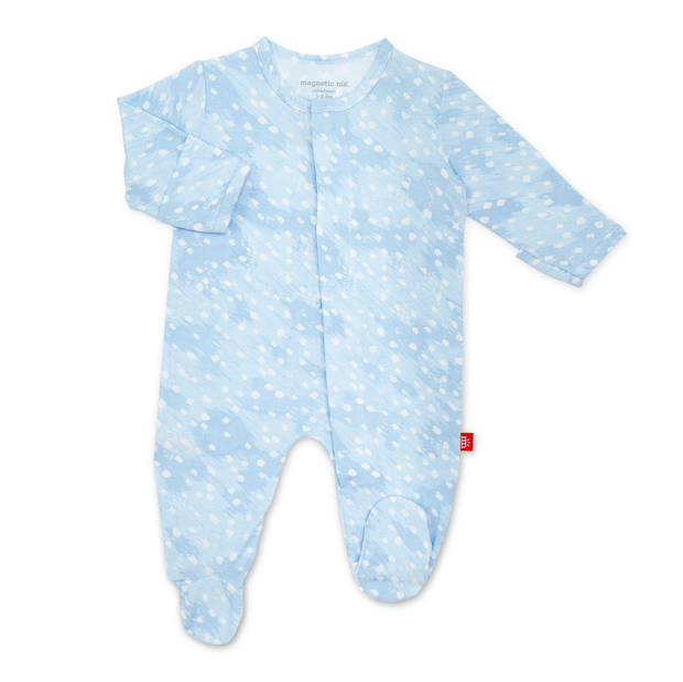 BLUE DOESKIN MODAL FOOTIE