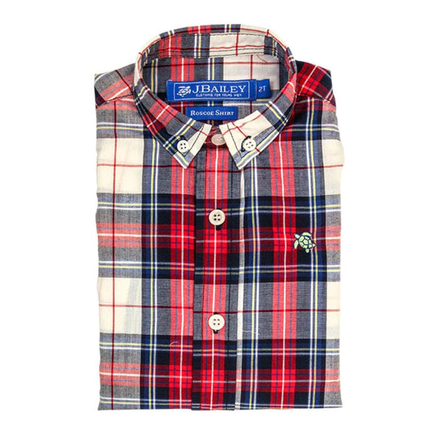 SHAW PLAID ROSCOE BUTTON DOWN