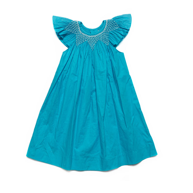 TURQUOISE BISHOP DRESS
