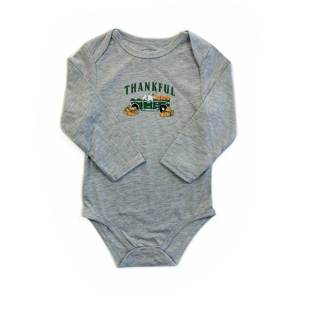 GREY L/S THANKFUL ONSIE