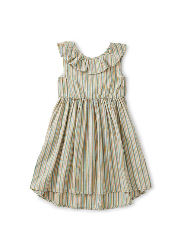 MARSH RUFFLE HI-LO DRESS