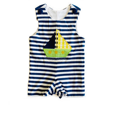 SAILBOAT KNIT ROMPER