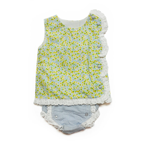SWEET CAROLINE LACE DIAPER SET