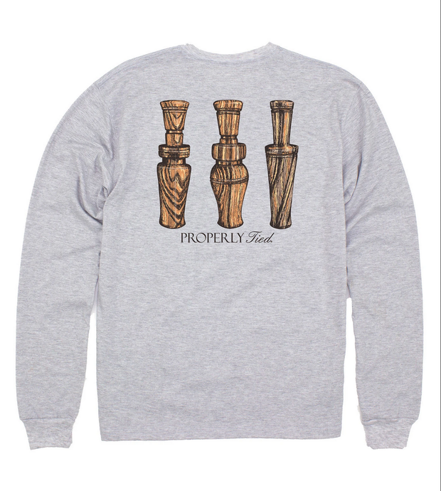 DUCK CALLS LONG SLEEVE POCKET TEE