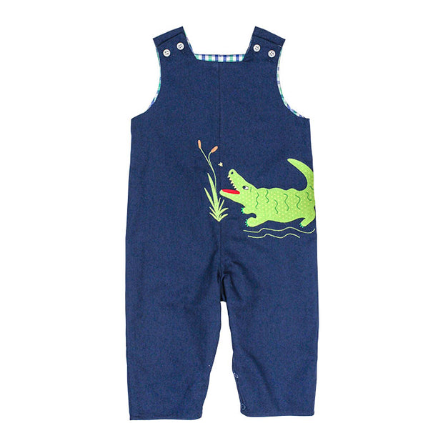 ALLIGATOR/APPLE REVERSIBLE JOHN JOHN