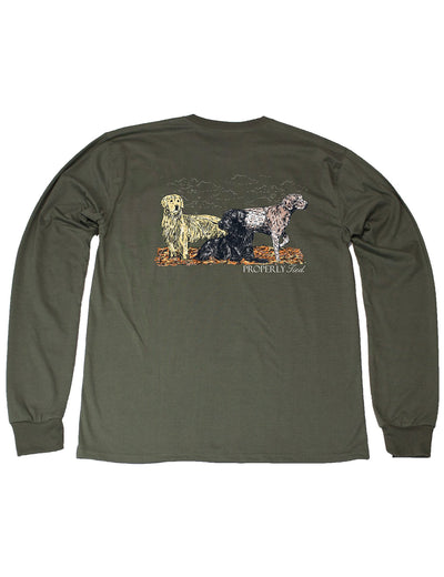 PROPERLY TIED L/S TEE - HUNTING DOGS