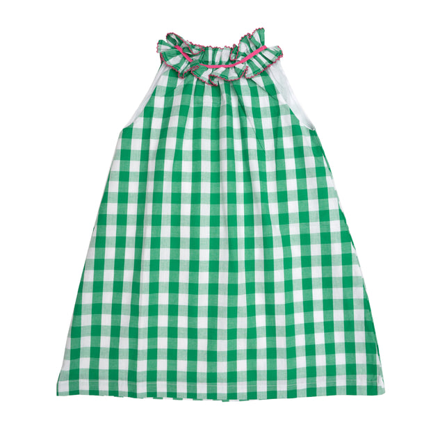 JORDYN GREEN CHECK DRESS