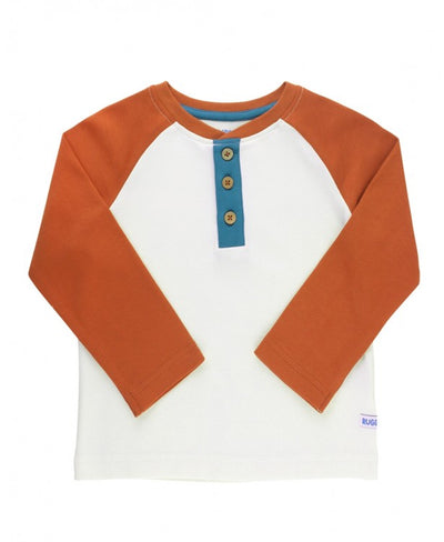 ORANGE SPICE HENLEY TEE