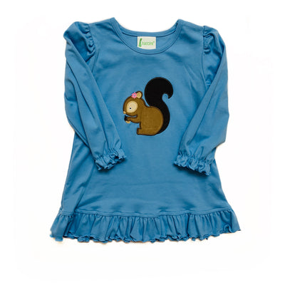 PERIWINKLE SQUIRREL DRESS