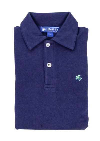 HENRY SHORT SLEEVE POLO IN NAVY