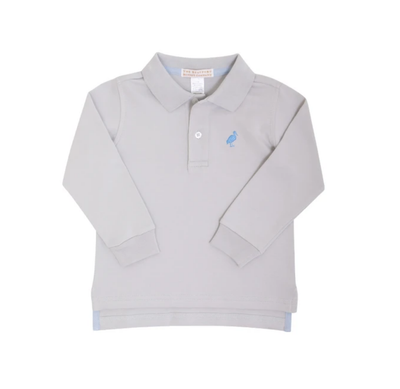 GRANTLEY GREY LONG SLEEVE PRIM & PROPER POLO