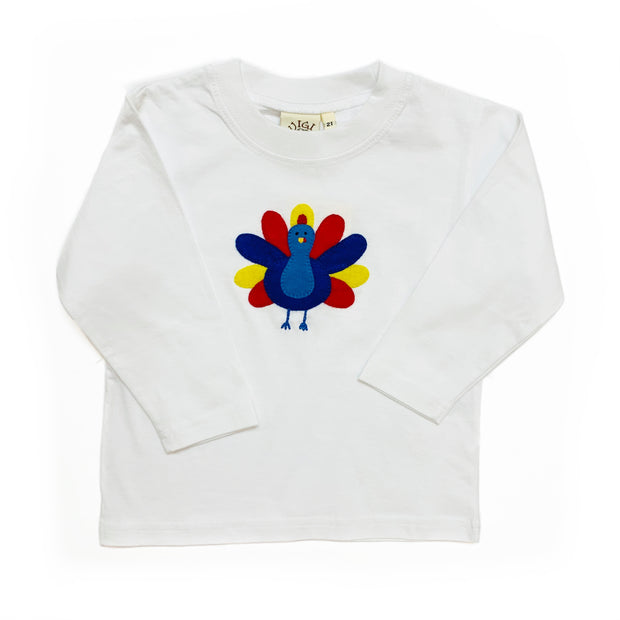 WHITE L/S SHIRT BLUE TURKEY