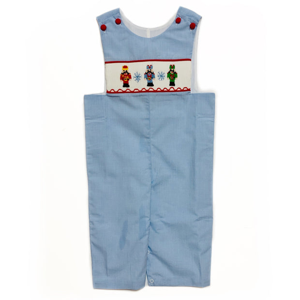 BLUE GINGHAM NUTCRACKER LONG JOHN