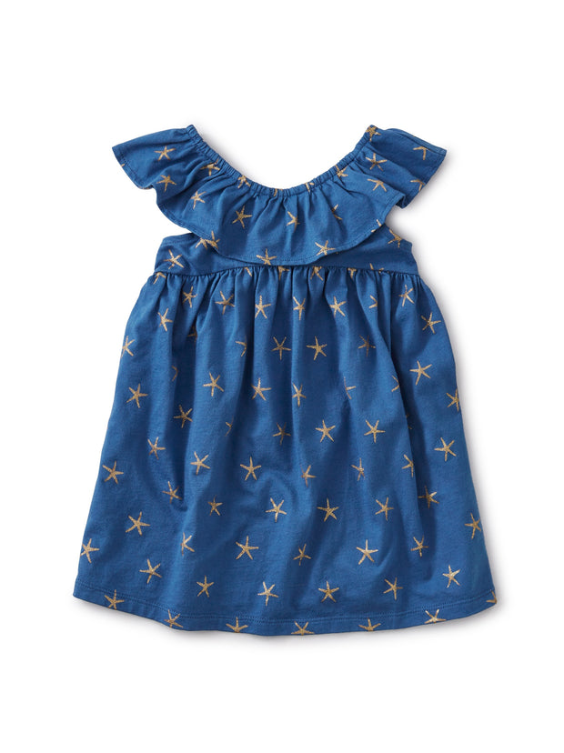 STARFISH RUFFLE NECK DRESS