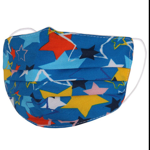 KIDS BLUE STAR FABRIC FACE MASK