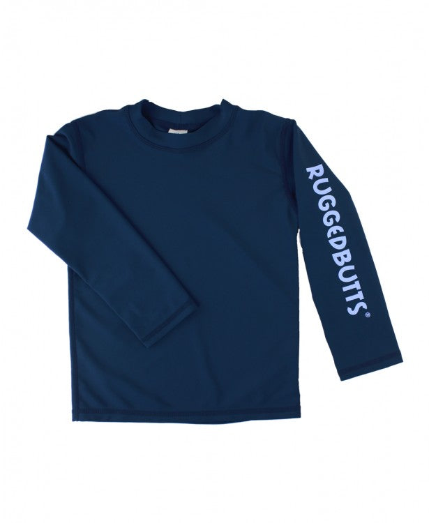 RUGGEDBUTTS LOGO RASH GUARD IN NAVY