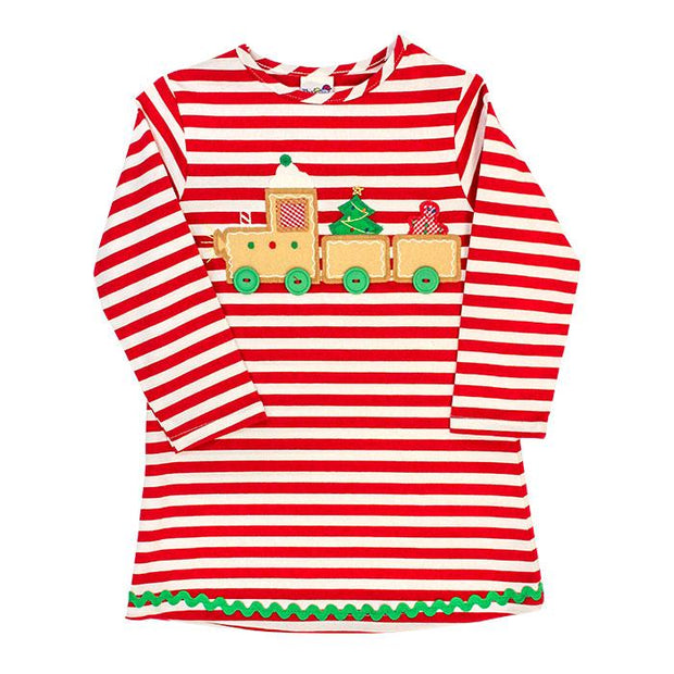 GINGERBREAD TRAIN KNIT DRESS