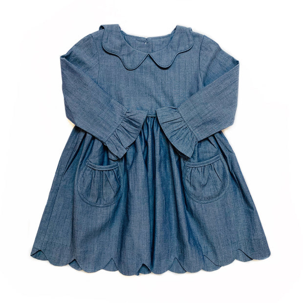 CHAMBRAY BAILEY DRESS