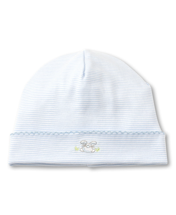 BUNNY BUZZ BABY HAT IN BLUE