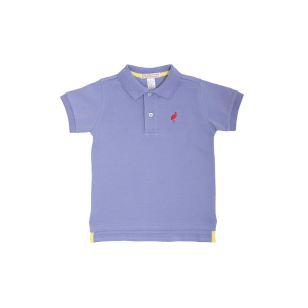 PRIM & PROPER POLO IN PARK CITY PERIWINKLE WITH RICHMOND RED STORK