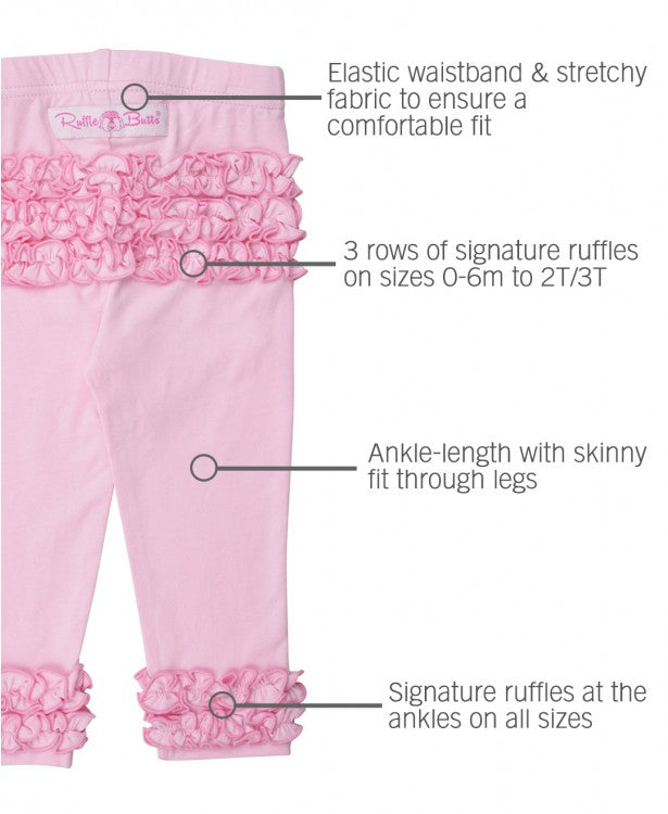 EVERYDAY RUFFLE LEGGINGS IN PINK