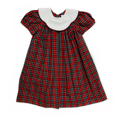 CHRISTMAS PLAID BIB DRESS