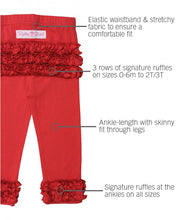 EVERYDAY RUFFLE LEGGINGS IN RED