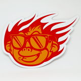 Flaming Monky Orange / Red Sticker