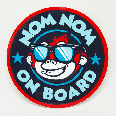 Nom Nom On Board Sticker