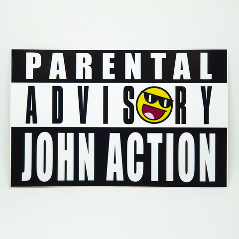 Parental Advisory John Sticker