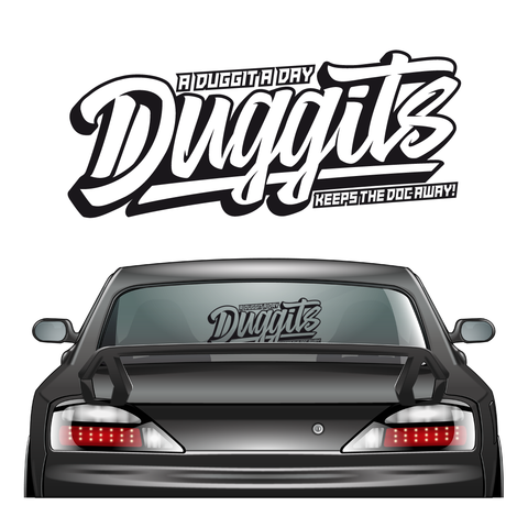 Duggits XL Sticker Black