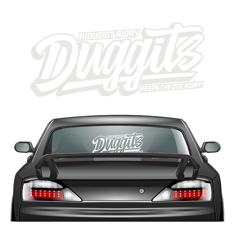 Duggits XL Sticker White