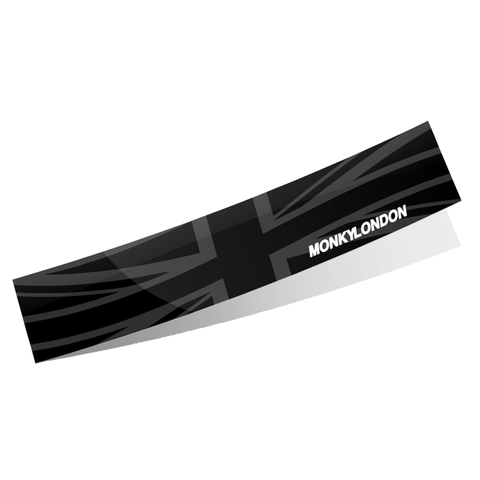ML Union Jack Flag Gloss Stealth Black Sunstrip