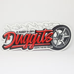 Duggits Red/Black Sticker