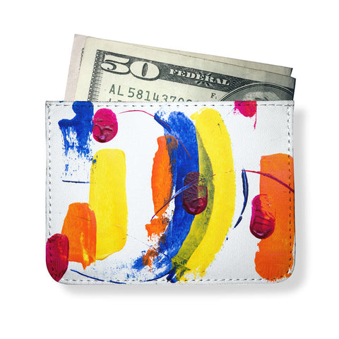 Paint Printed Minimal Wallet