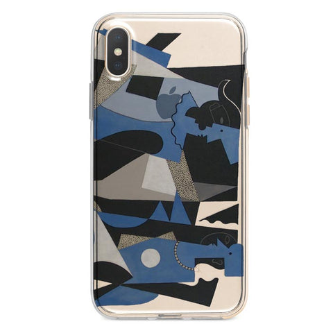 Abstract Couple by Picasso iPhone Xs / X case
