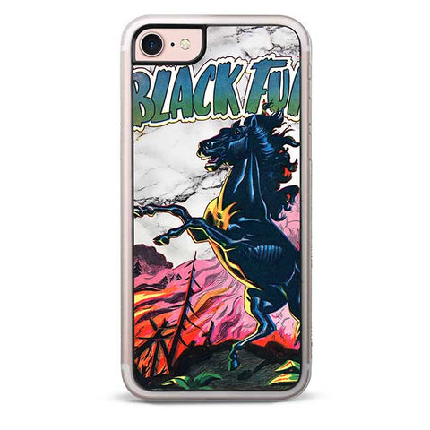 Black Furry iPhone 7 / 8 Case