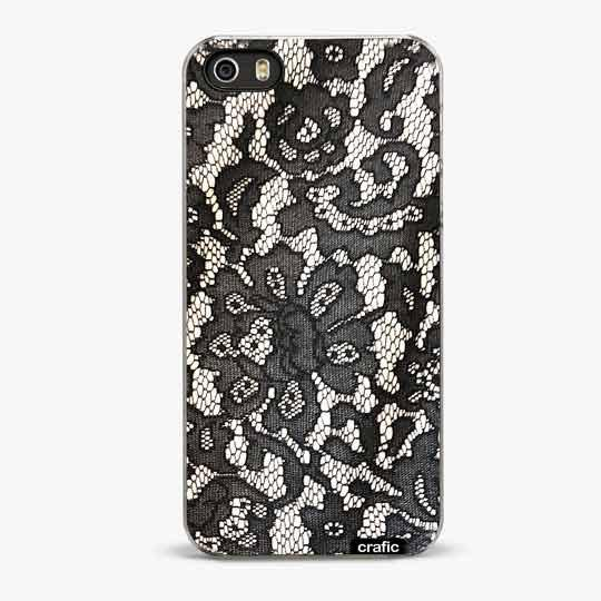 BLACK LACE IPHONE SE CASE - CRAFIC