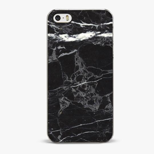 BLACK MARBLE iPhone 5/5S Case - CRAFIC