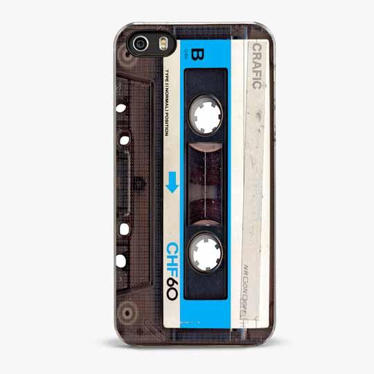 Blue Vintage Cassette Tape iPhone 5/5S Case - CRAFIC